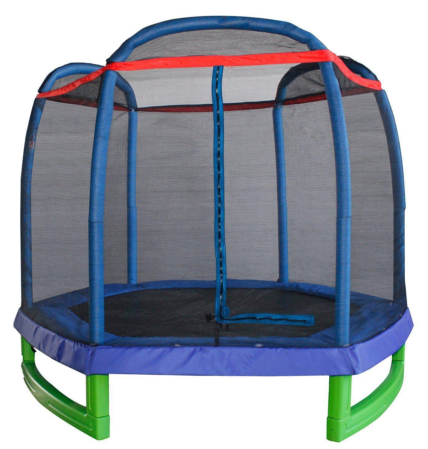 merax-7-foot-kids-trampoline-and-enclosure-set