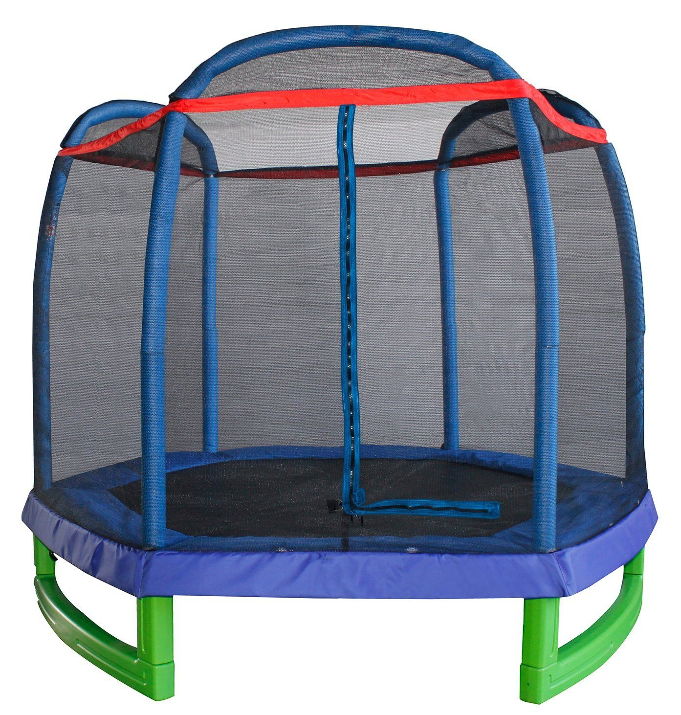 merax-7-foot-kids-trampoline-and-enclosure-set